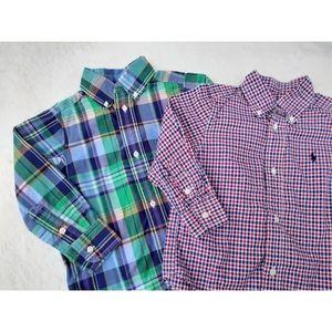 Ralph Lauren Plaid Shirt Set of 2 Easter Spring 2T
